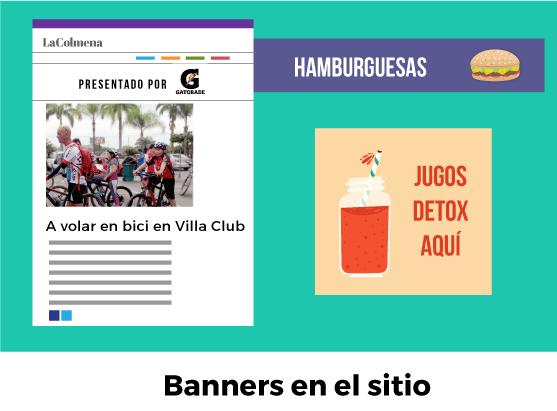 Banners publicitarios en La Colmena
