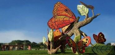 Las mariposas gigantes marcan la identidad de Villa Club