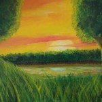 Juan Juna pinta cuadros para Manabí