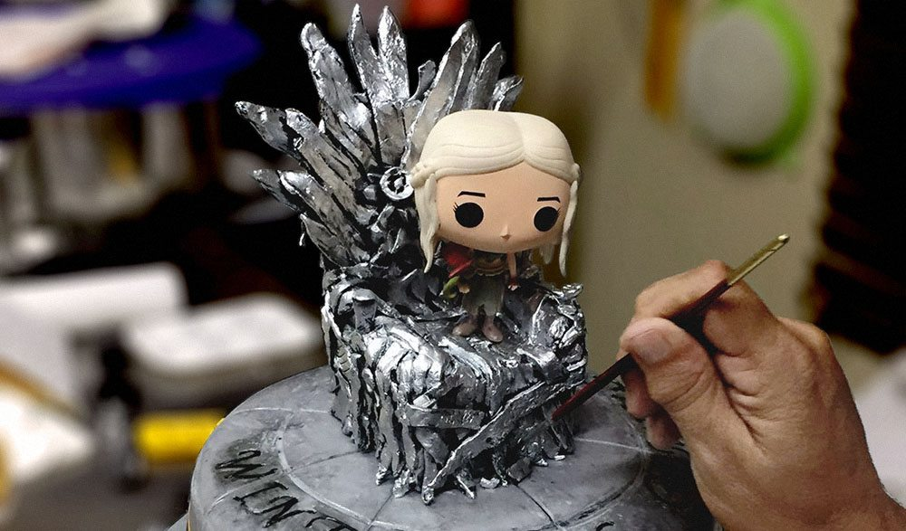 Una de sus creaciones favoritas es la torta temática de Game of Thrones