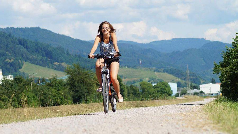 Recorre en bici ciudad celeste